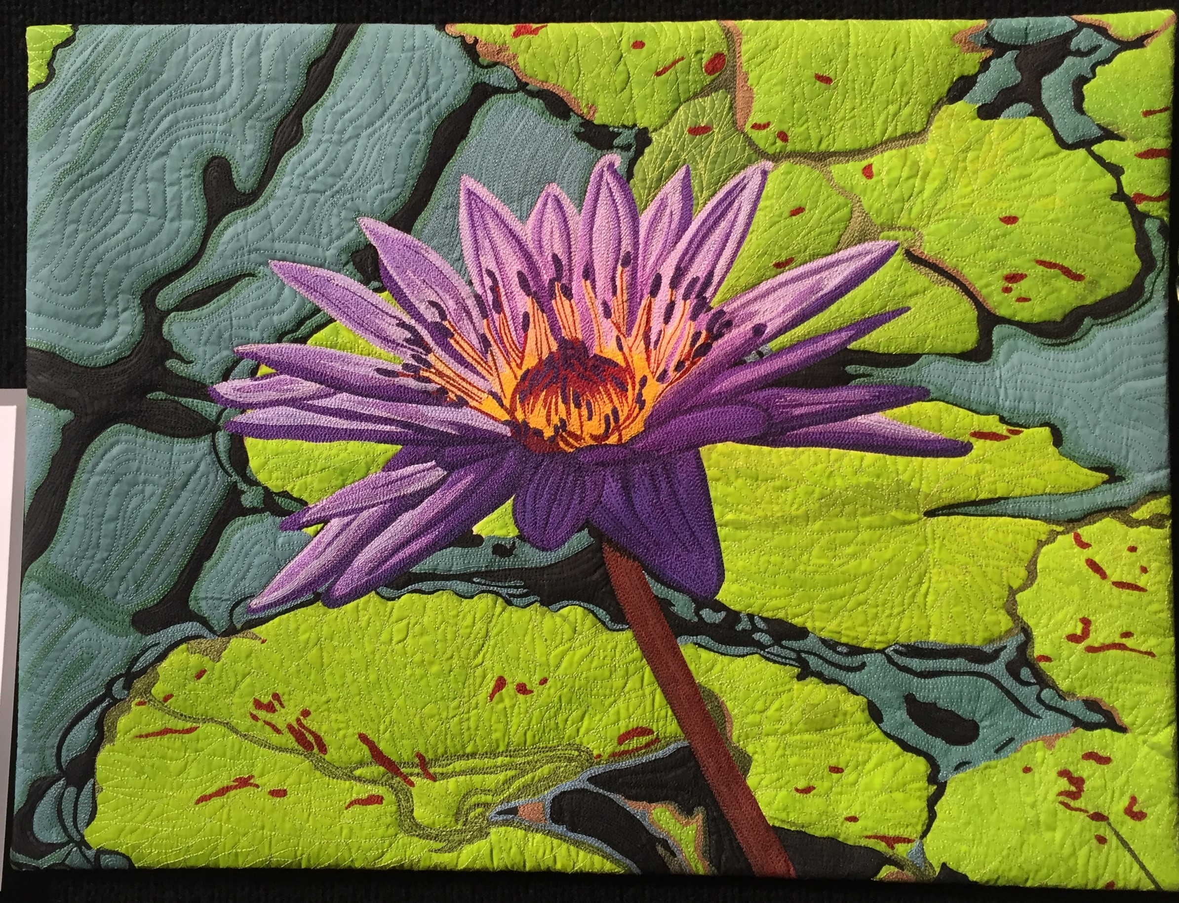 Hong Kong Water Lily- Heather Craig - Best kit/class work BEST- Sponsored by Sew It