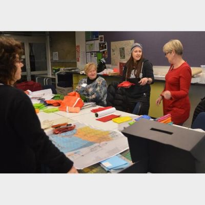 Art quilting class with Sophie Wood