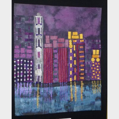 City Skyline by Kathleen Burford. Best Machine Quilting on Domestic Machine