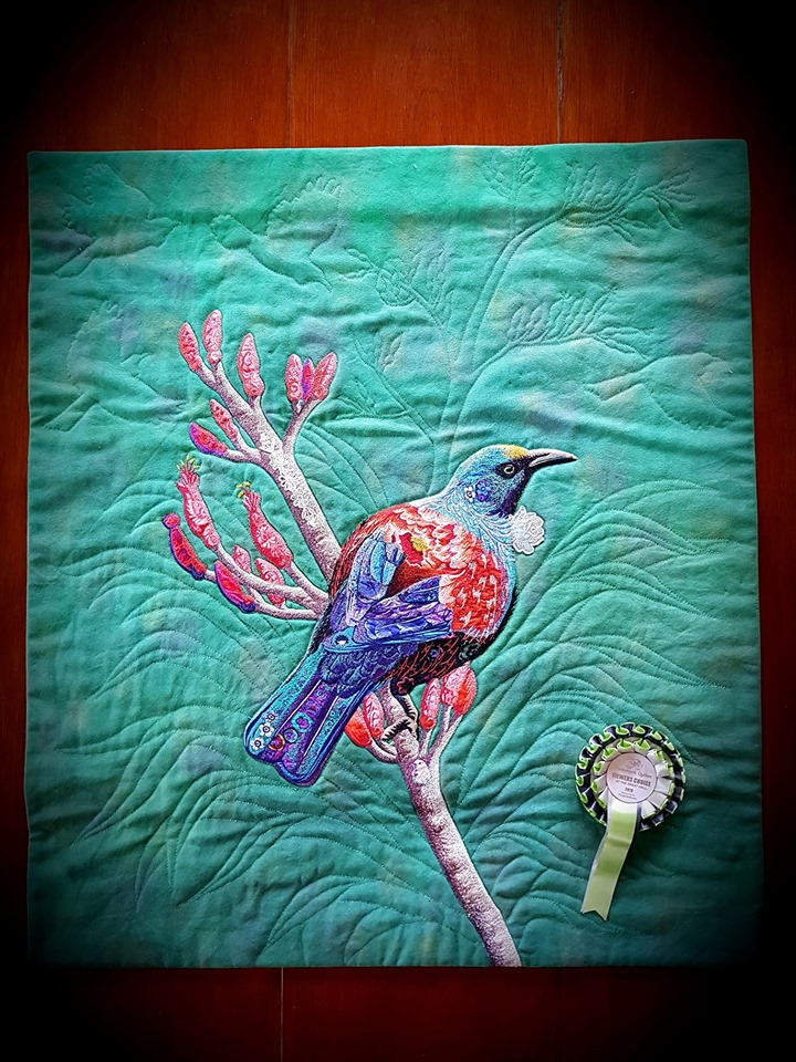 'Tia Tui' By Lynne Doubleday won viewer's choice sponsored by Forget Me Knots
